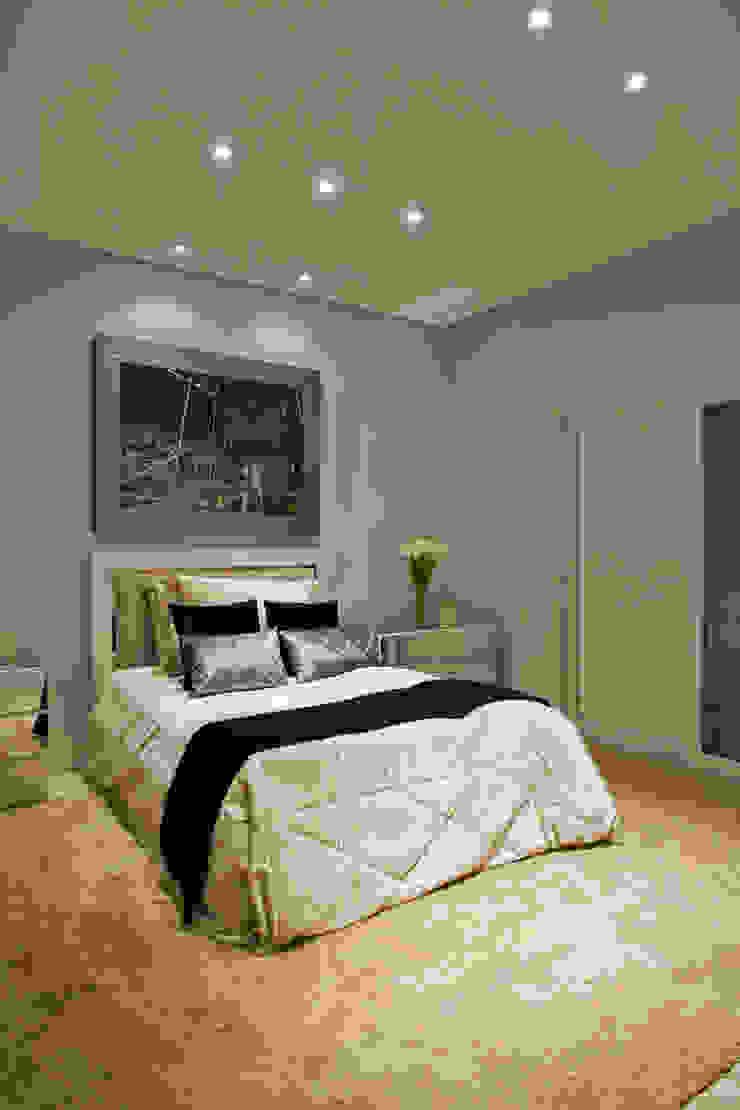 Arquiteto Aquiles Nícolas Kílaris Dormitorios de estilo moderno Gris