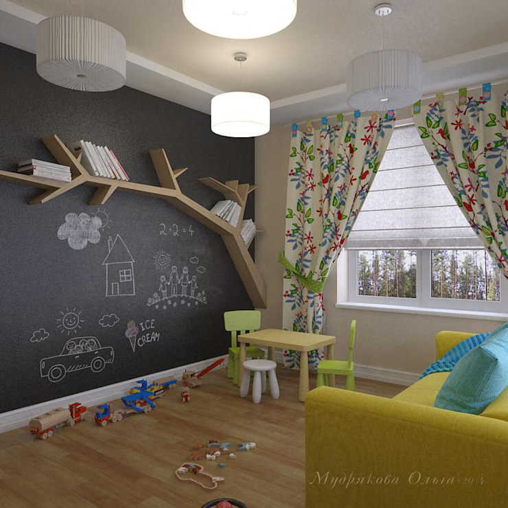 Design interior OLGA MUDRYAKOVA Scandinavian style nursery/kids room