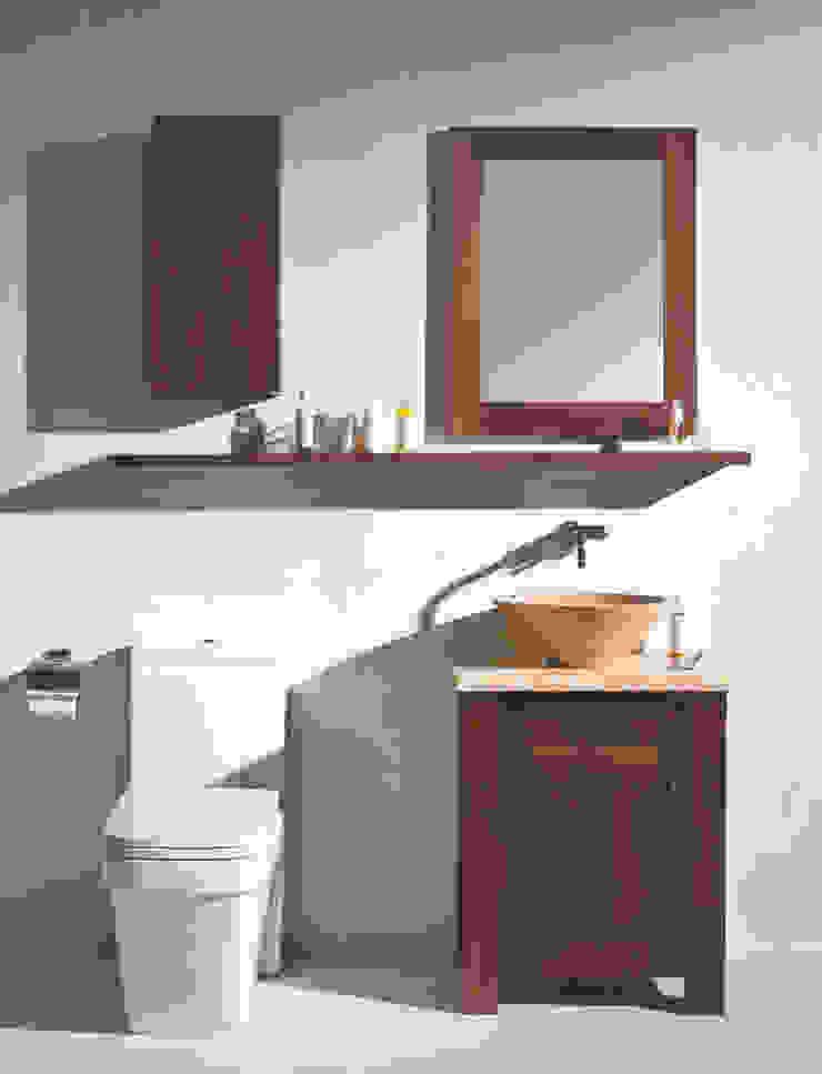 Walnut For Petite Rooms Stonearth Interiors Ltd Modern Bathroom Wood