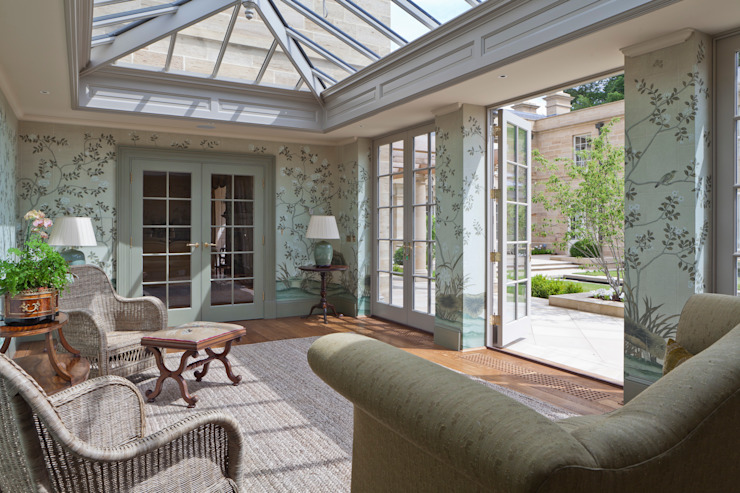 Impressive Twin Classical Orangeries - Sitting Room Classic style conservatory by Vale Garden Houses Classic Wood Wood effect