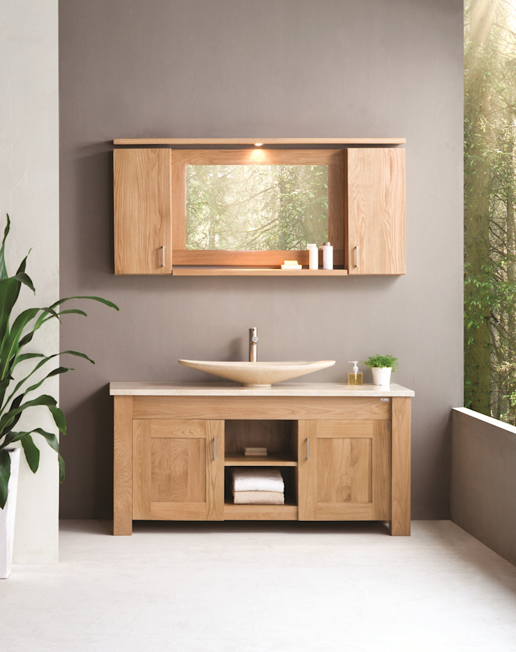 Oak Finesse Scandinavian style bathrooms by Stonearth Interiors Ltd Scandinavian Solid Wood Multicolored