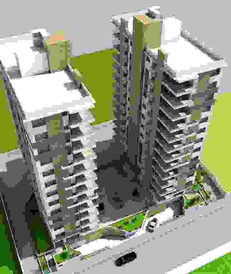 Prédio Mod5 Casas ecléticas por Habita Arquitetura Eclético
