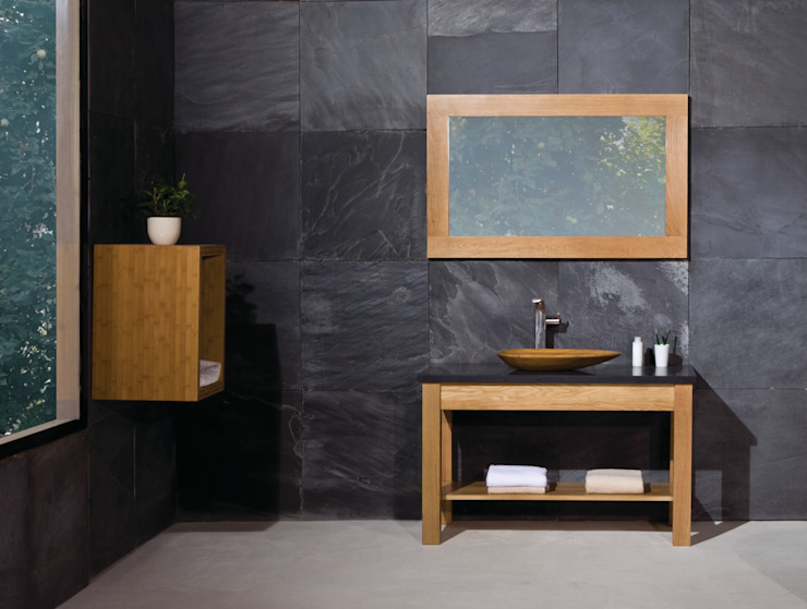 Prestige Open Shelf Solid Wood Washstand Minimalist style bathroom by Stonearth Interiors Ltd Minimalist Wood Wood effect