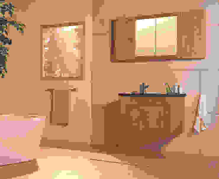 Entice Wall Hung Oak Washstand من Stonearth Interiors Ltd إسكندينافي خشب متين Multicolored
