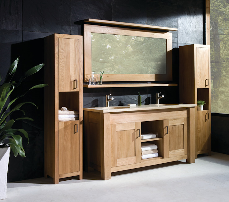 Finesse Oak Scandinavian style bathrooms by Stonearth Interiors Ltd Scandinavian Solid Wood Multicolored