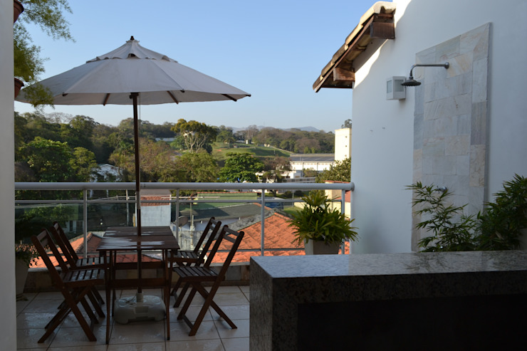 Gourmet Felix Crame Varandas, alpendres e terraços modernos por Isabella Machado Arquitetura Moderno