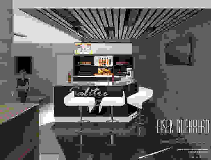 Vista Barra VIP. Minimarket La Barrica. 2015 EISEN Arquitectura + Construccion Bodegas de vino de estilo minimalista