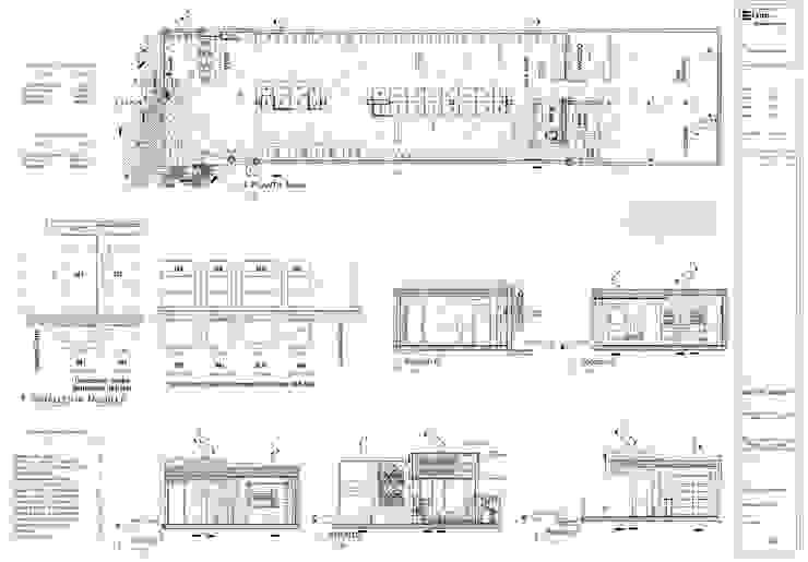 Plano A01 Distribución y Clasificacion del Mobiliario EISEN Arquitectura + Construccion Bodegas de vino de estilo minimalista