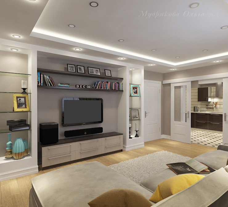 Klassische Wohnzimmer von Design interior OLGA MUDRYAKOVA Klassisch