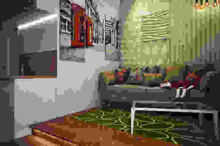 Студия в Новокосино Гостиная в скандинавском стиле от Pure Design Скандинавский
