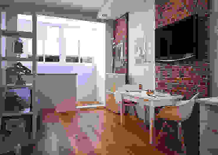 Phòng khách phong cách Bắc Âu bởi Pure Design Bắc Âu