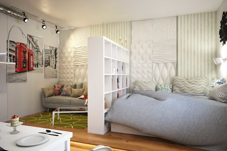 Pure Design Scandinavian style bedroom Multicolored