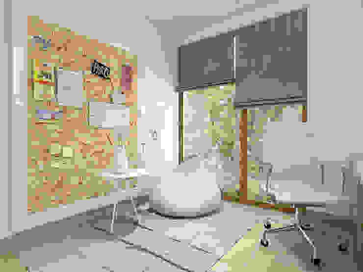 Scandinavian style study/office by UTOO-Pracownia Architektury Wnętrz i Krajobrazu Scandinavian