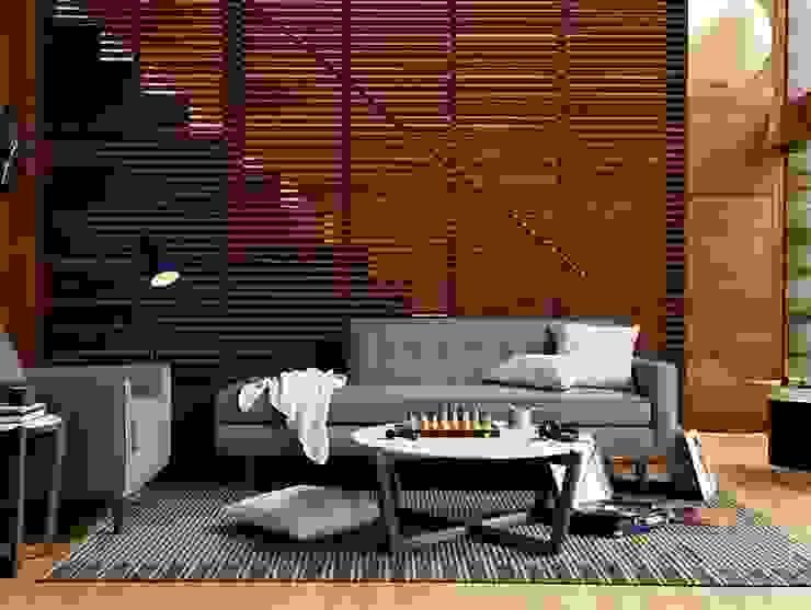 Bantam Studio Sofa de Design Within Reach Mexico Moderno Cuero Gris