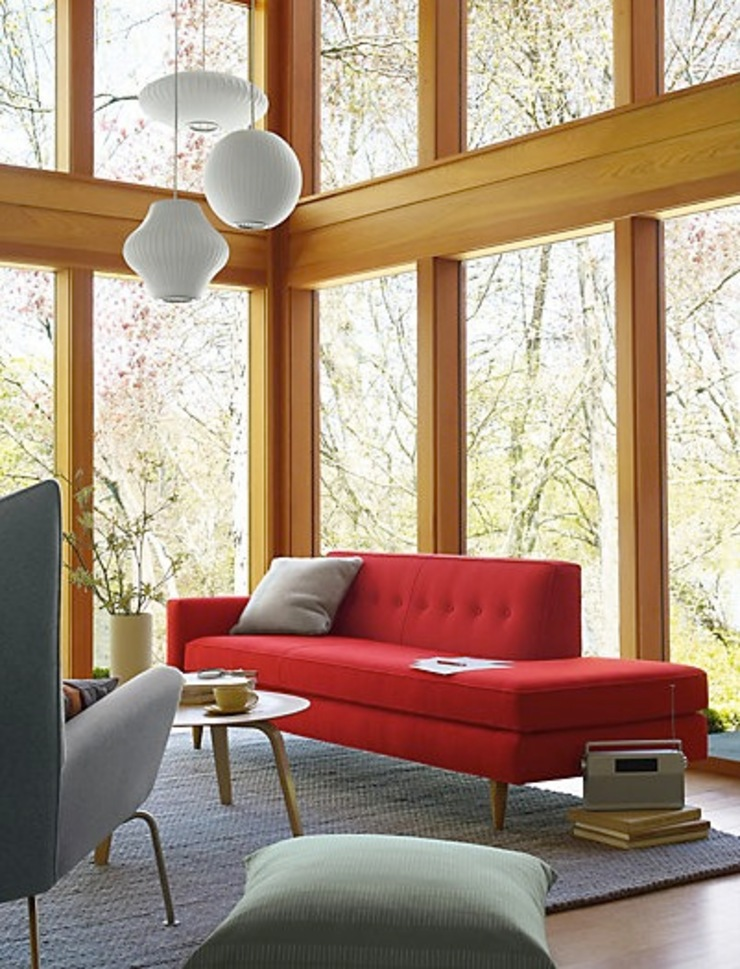 Bantam Studio Sofa de Design Within Reach Mexico Moderno Algodón Rojo