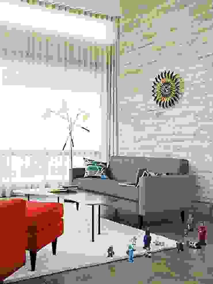 Bantam Sofa de Design Within Reach Mexico Moderno Lana Naranja