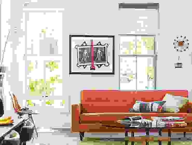 Bantam Sofa de Design Within Reach Mexico Moderno Algodón Rojo