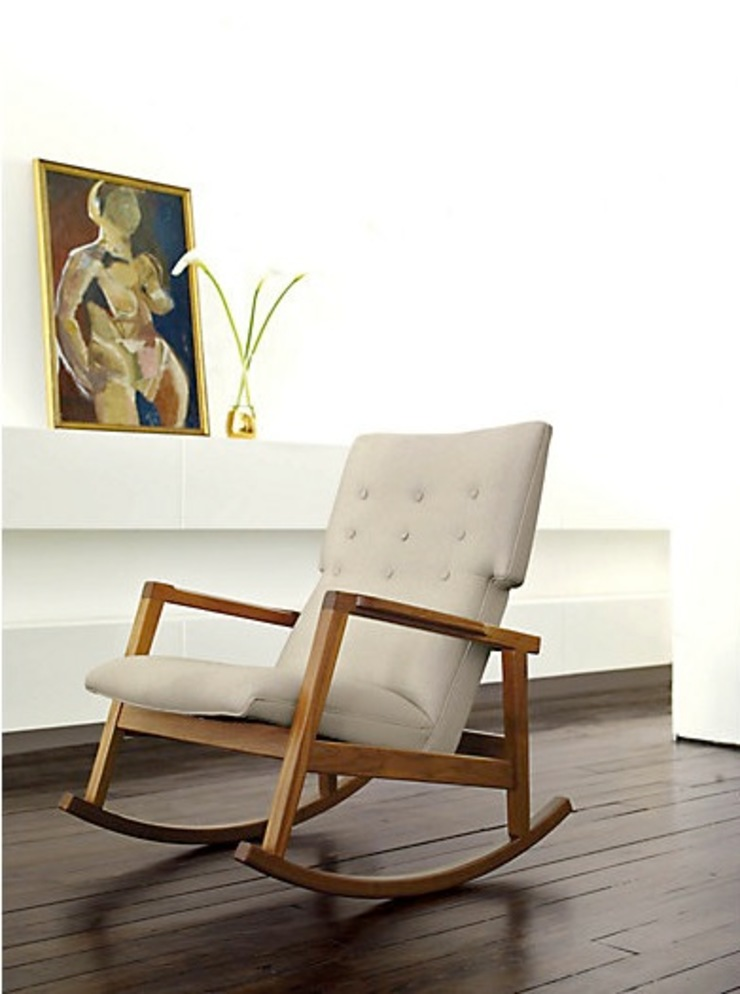 Risom Rocker de Design Within Reach Mexico Moderno Textil Ámbar/Dorado