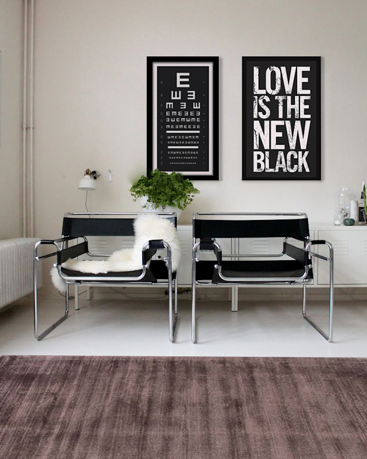 Diseño Icónico Salones modernos de Gaia Design Moderno