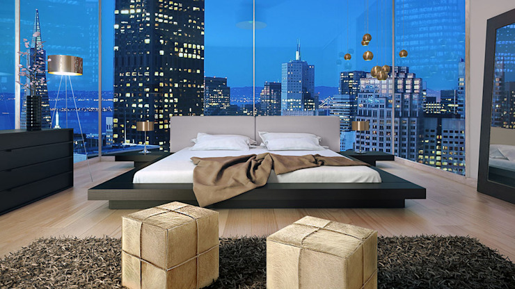 Dormitorios de estilo  por INVITO