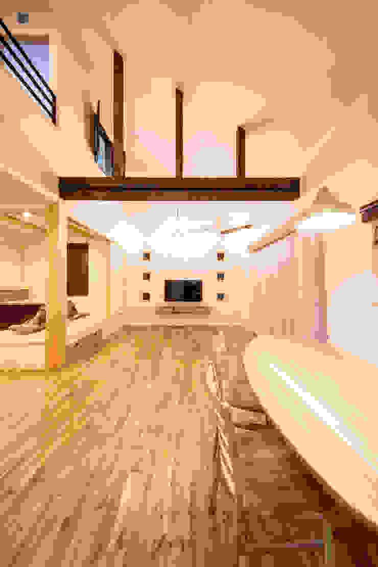 松原の家。 モダンデザインの ダイニング の 株式会社ルティロワ 一級建築士事務所 モダン
