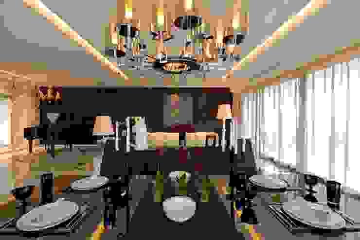 THE RIDGES - A3 VILLA Modern dining room by Aijaz Hakim Architect [AHA] Modern
