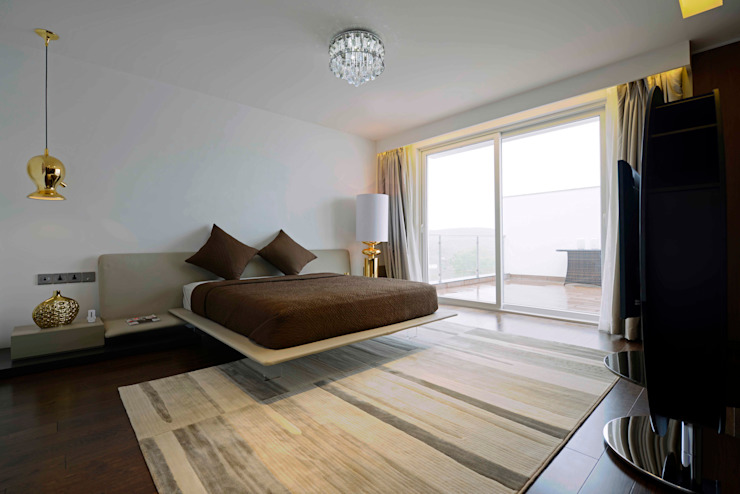 THE RIDGES - A3 VILLA:  Bedroom by Aijaz Hakim Architect [AHA]