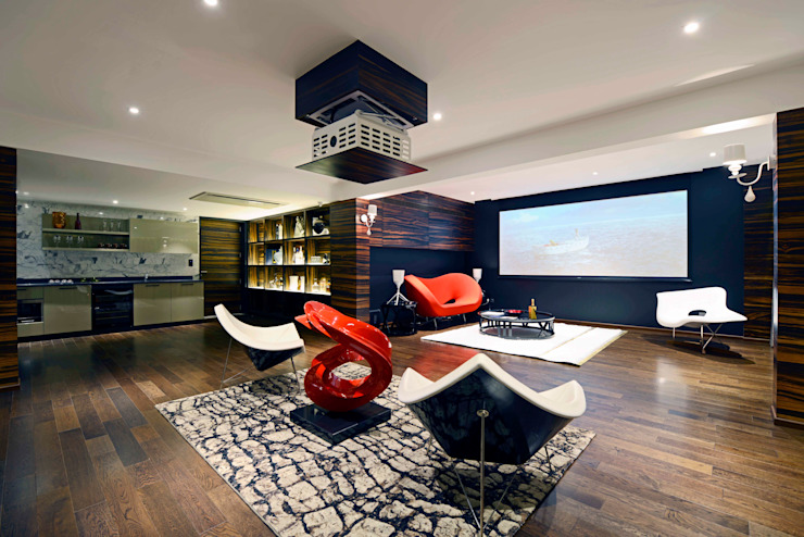 THE RIDGES - A3 VILLA Modern media room by Aijaz Hakim Architect [AHA] Modern