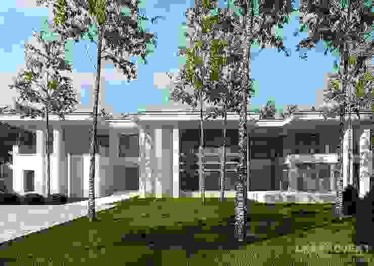 LK&1048 projekt domu jednorodzinnego Nowoczesne domy od LK & Projekt Sp. z o.o. Nowoczesny