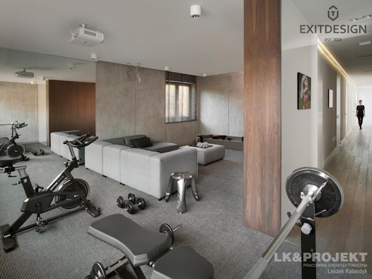 Modern gym by LK & Projekt Sp. z o.o. Modern