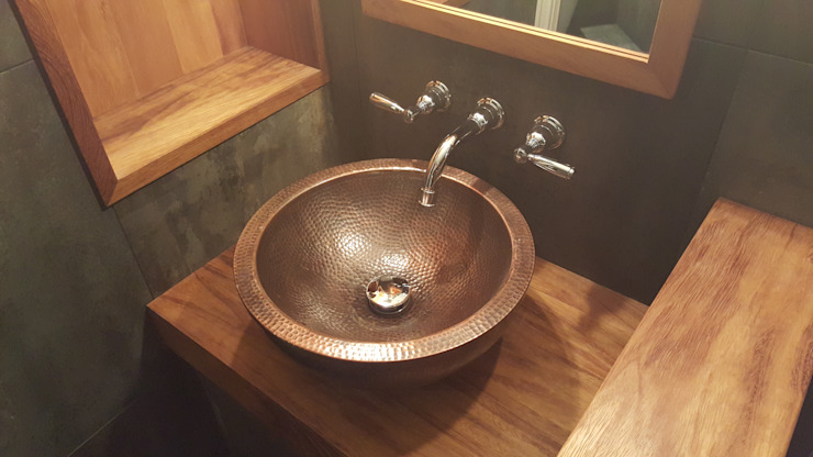 Copper sink Industrial style bathroom by Design Republic Limited Industrial