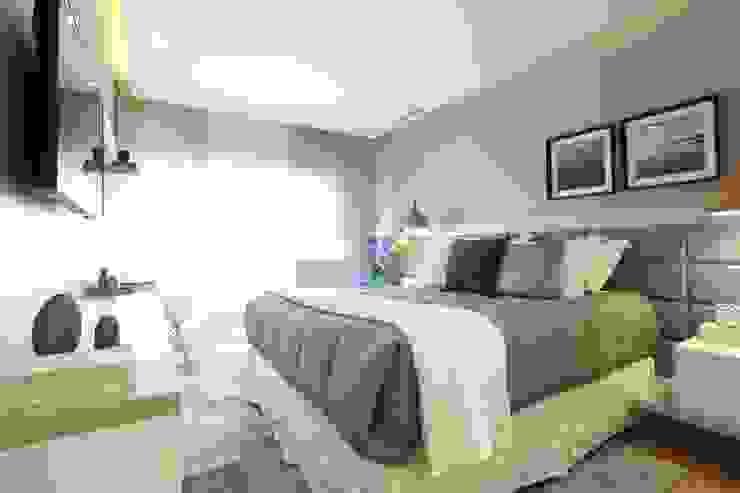 Léo Shehtman Arquitetura e Design Minimalist bedroom
