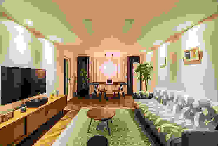 용인시 수지구 죽전동 성현마을 광명샤인빌아파트 (24평형) 모던스타일 거실 by 아르떼 인테리어 디자인 모던