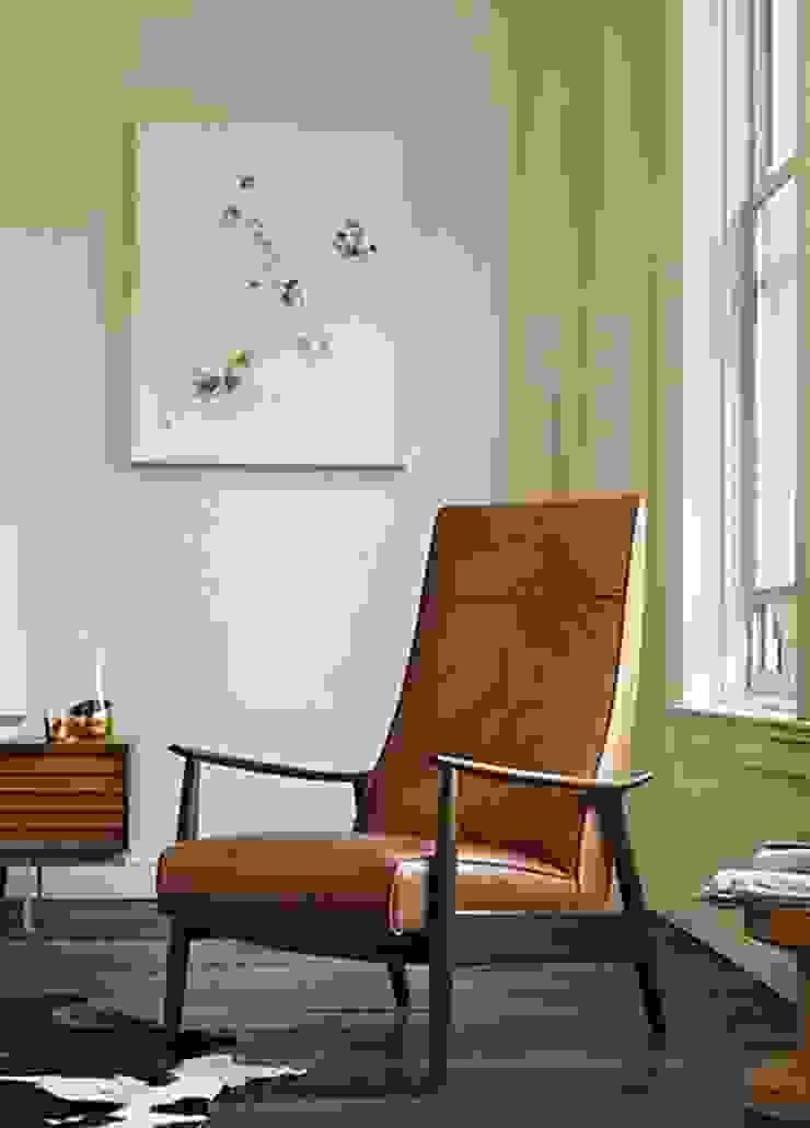 Milo Baughman Recliner 74 de Design Within Reach Mexico Moderno Cuero Gris