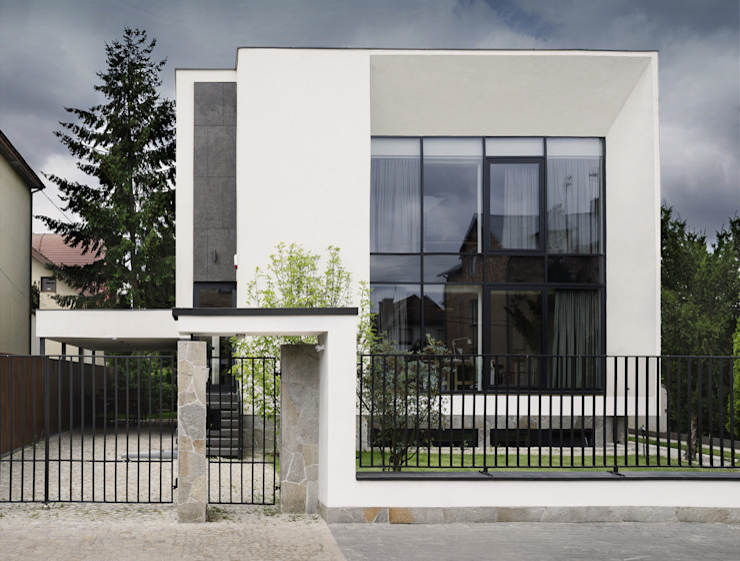 Huizen door PAWEL LIS ARCHITEKCI, Modern Glas