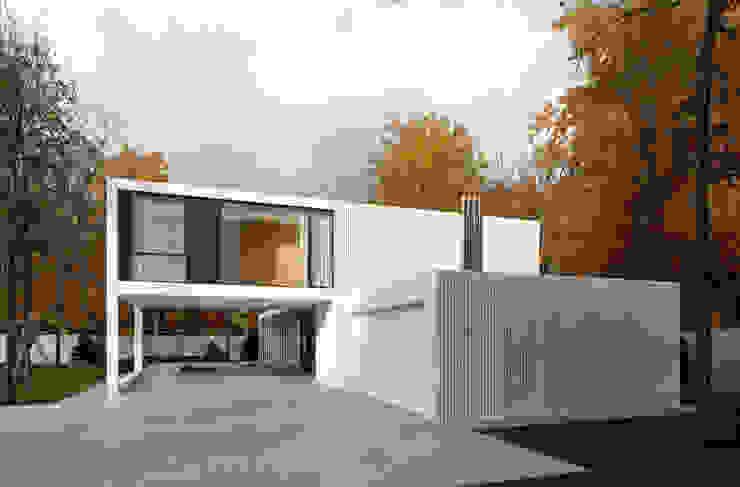 Maisons minimalistes par PAWEL LIS ARCHITEKCI Minimaliste Verre
