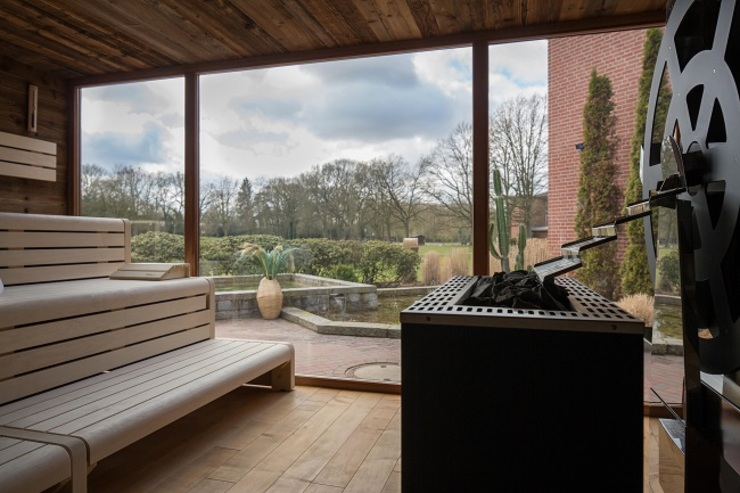 Außensauna Spa moderne par corso sauna manufaktur gmbh Moderne Bois Effet bois