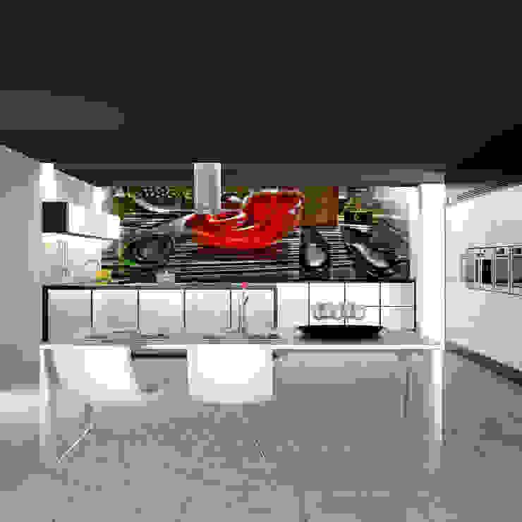 Papel de Parede para Cozinha por CreativeArq Moderno Papel