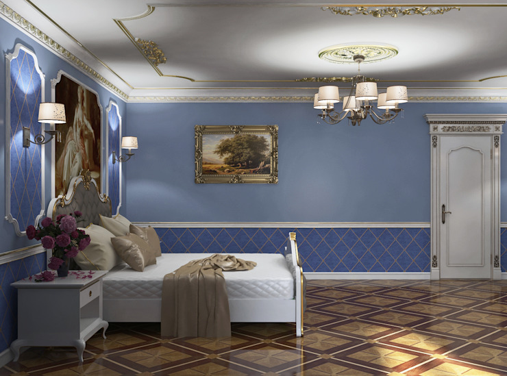 homify Classic style bedroom Blue