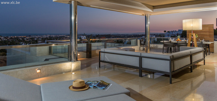 XLC Moderner Balkon, Veranda & Terrasse