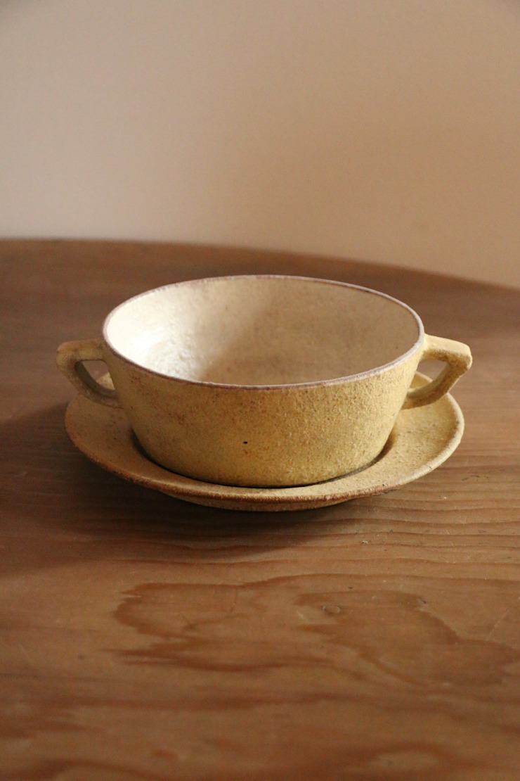 nuanceシチューボウル&ソーサー: むくり工房が手掛けた折衷的なです。,オリジナル 陶器