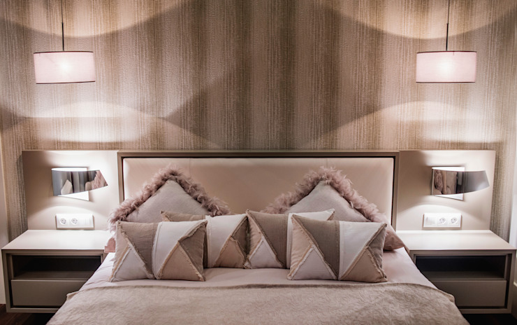 Mediterranean style bedroom by SENZA ESPACIOS Mediterranean