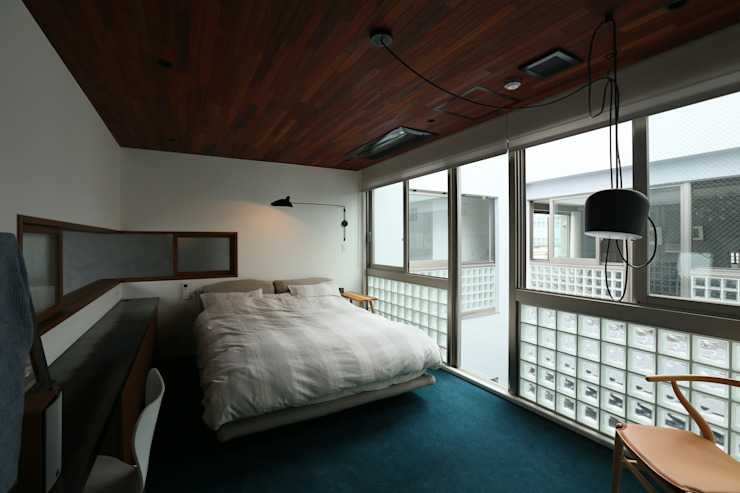 稲荷町の家(リノベーション) 北欧スタイルの 寝室 の 株式会社CAPD 北欧
