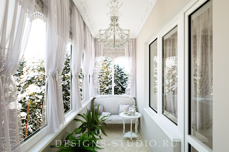 Проект коттеджа город Санкт-Петербург Балконы и веранды в эклектичном стиле от Lear design studio Эклектичный
