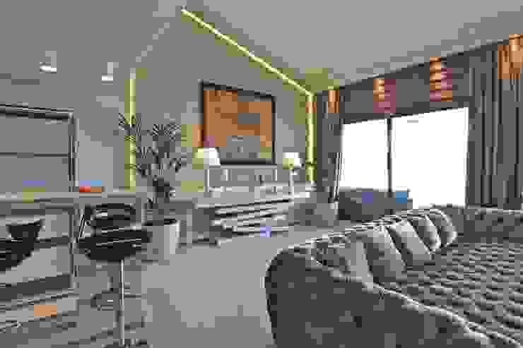 K.G Evi Arnavutköy Modern Oturma Odası Kerim Çarmıklı İç Mimarlık Modern