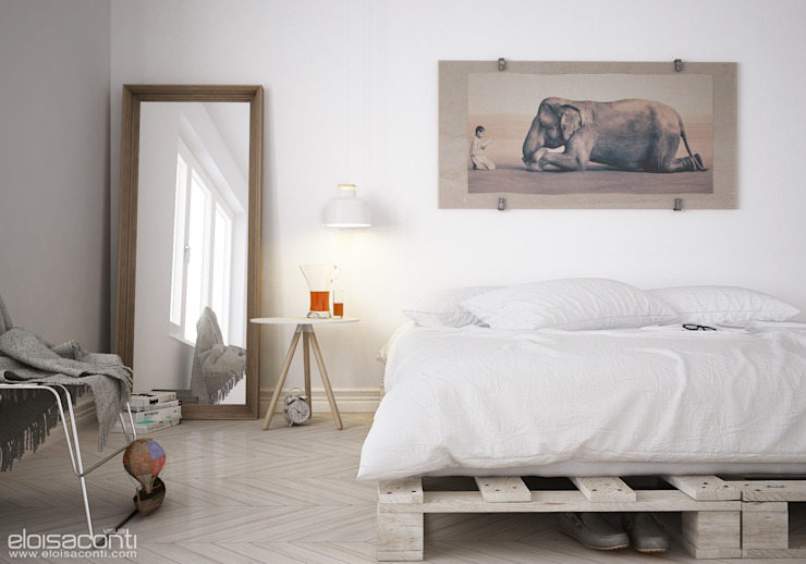 Easy bedroom di Eloisa Conti Visual Minimalista