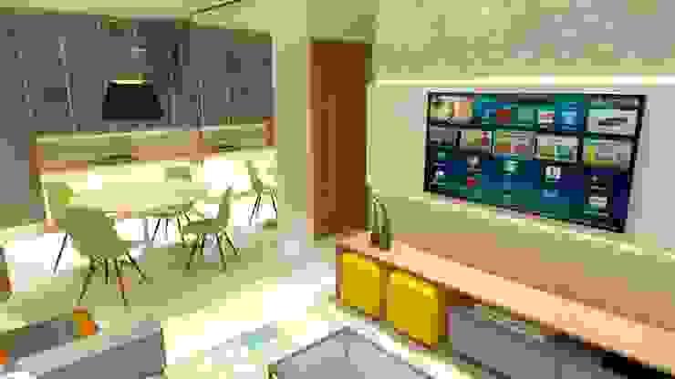 Living Salas de estar modernas por Arquitetura do Brasil Moderno