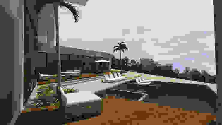 casa pp Piscinas modernas por grupo pr | arquitetura e design Moderno