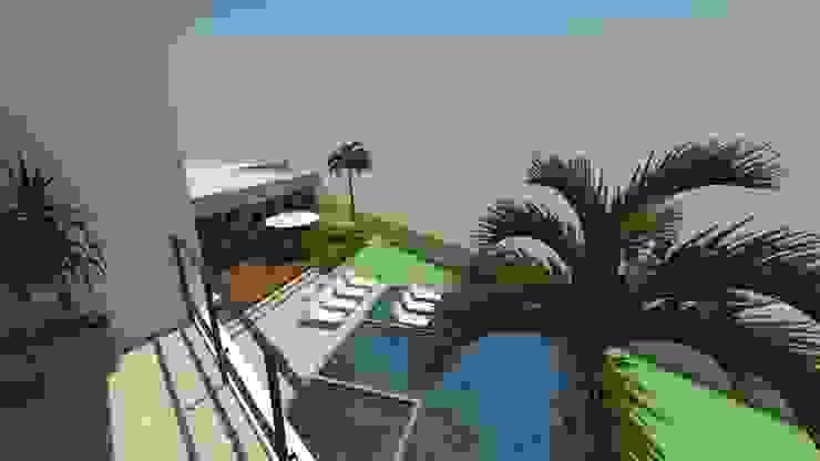 casa pp Varandas, alpendres e terraços modernos por grupo pr | arquitetura e design Moderno