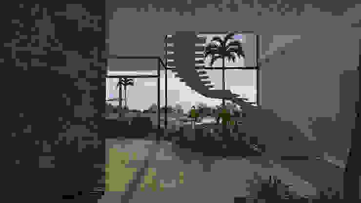 Modern Corridor, Hallway and Staircase by grupo pr   arquitetura e design Modern